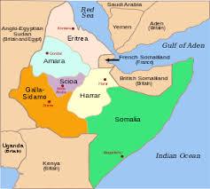 africa map eritrea italian eritreans