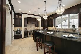 Dark Kitchen Ideas Dark Kitchen Cabinets With Granite Counter Tops One Of The Best