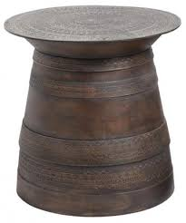 Metal Drum Accent Table Pottery Barn Frog Rain Drum Accent Table Copycatchic