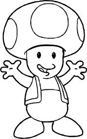 nintendo super mario toad coloring page wecoloringpage