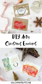 diy artsy christmas envelopes