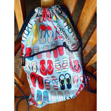 flip flop bag thirty one sale flip flop drawstring bag from s
