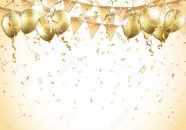 gold balloons gold balloons confetti and streamers royalty free cliparts