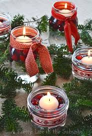 Decorate Mason Jars For Christmas by Simple U0026 Pretty Christmas Centrepieces A Pretty Life In The Suburbs