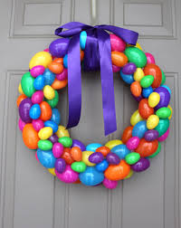 how to make an easter egg wreath diy easter egg wreath