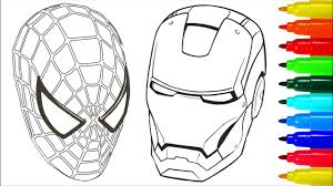 spiderman iron man coloring pages colouring pages for kids with