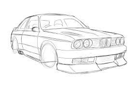 e30 m3 sketch 1 by dazza mate on deviantart
