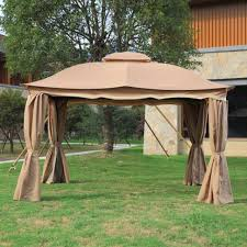 Patio Gazebos 3x3 6 Meter Deluxe Aluminum Patio Gazebo Tent Garden Shade