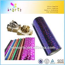 plastic laser printing gift wrapping paper foil wrapping
