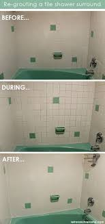 Regrout Bathroom Shower Tile Phase 1 Of The Bathroom Remodel Complete Shower Re Grouted