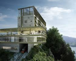 rendering of burgenstock resort at lake lucerne art u0026 design