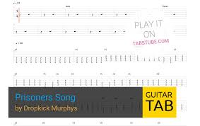 dropkick murphys prisoners song guitar tab and chords
