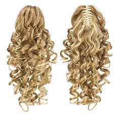 ponytail extensions swacc 12 inch curls claw clip ponytail extensions
