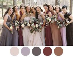 bridesmaid dress colors fall bridesmaid dresses 2017 wedding ideas magazine weddings