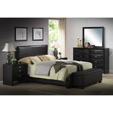bedroom mid century modern bedroom with black leather king size