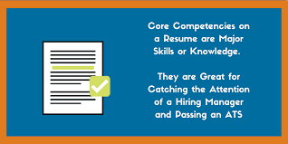 list of core strengths listing core competencies on a resume examples included zipjob