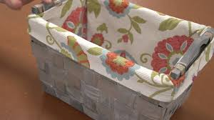 Make A Laundry Hamper by How To Make A Basket Liner Youtube