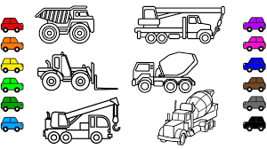 construction vehicles coloring pages car and truck video for