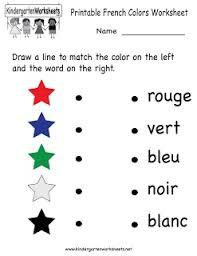 49 best kindergarten french worksheets images on pinterest