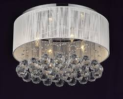 Chrome Crystal Chandelier by G7 B12 White 2130 4 Gallery Chandeliers Flushmount 4 Light Chrome