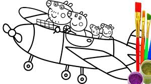 how to draw peppa pig family fly coloring pages teach kid drawing