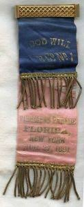 parade ribbon early 1891 goodwill co no 1 parade ribbon from florida