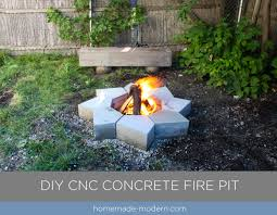 homemade modern ep102 cnc concrete fire pit