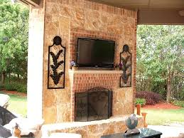 faux stone fireplace facade interior home coration corative rustic