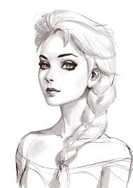 photo sketch elsa sketch by roggles on deviantart
