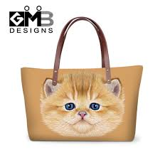 luxury handbags women bags designer cute animal 3d print shoulder