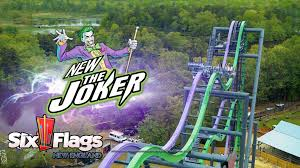 Six Flags New England Park Map The Joker New Roller Coaster For Six Flags New England In 2017