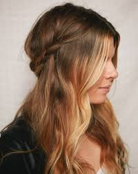 2 braids in front hair down hairstyle long natural hair half up braided crown a cup of jo