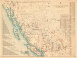 bc map columbia commercial map of b c city of vancouver archives