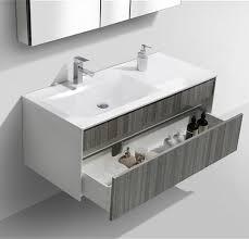 Wall Mounted Bathroom Cabinets Modern Fitto 48 U2033 Ash Gray Wall Mount Modern Bathroom Vanity