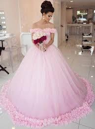 tulle wedding dresses gown shoulder pink tulle wedding dresses pink quinceanera