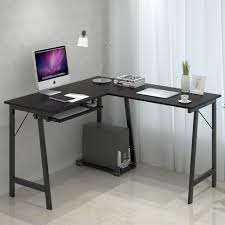 Corner Desk Keyboard Tray Corner Desk With Keyboard Tray Futuristic Captures Small Black