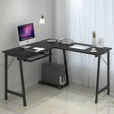 Futuristic Computer Desk Corner Desk With Keyboard Tray Futuristic Captures Small Black