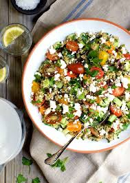 tabouli salad with cucumber tomato feta and olives pinch and