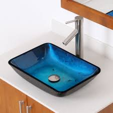 extraordinary blue glass vessel sinks for bathrooms for your