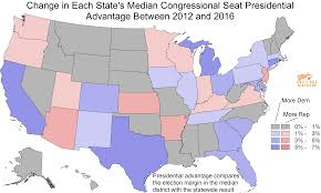 Presidential Election Map 2012 by Daily Kos Elections U0027 Median District Scores Show How Strong The