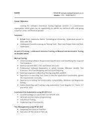 quality assurance resume qa tester resume sles manual tester sle resume testing fresher