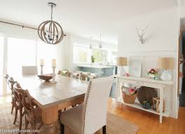 The Dining Rooms by Painting Simply White In The Dining Room U0026 Kitchen The Happy Housie