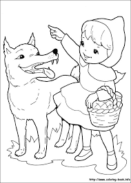 red riding hood coloring pages coloring book
