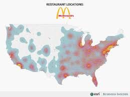 Fast Mapping Biggest Food Chains In America Maps Business Insider
