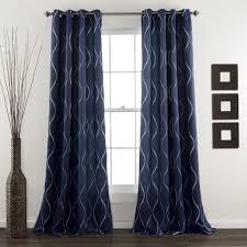 Navy Curtain Swirl Window Curtains Lush Decor Www Lushdecor