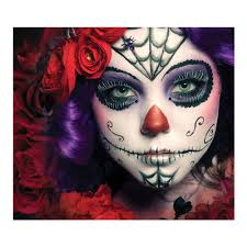 Halloween Makeup Day Of The Dead by Amazon Com Day Of The Dead Makeup Kit Sugar Skull Design Beauty