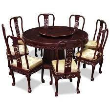 chinese dining room furniture set with oversized round table and 8