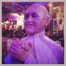 Buca Di Beppo Pope Table by Pope Sculpture In The Middle Of Our Table In