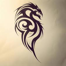 dragon tribal tattoo design by fingerprint1404 deviantart com on