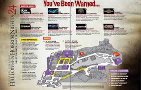 Universal Studios Orlando Interactive Map by Halloween 2014